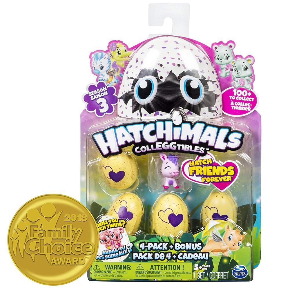Игрушка Hatchimals коллекционная фигурка 4 штуки + бонус - фото 1