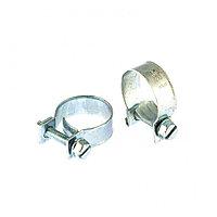 Хомуты металлические, MINI 18-20 мм, ширина 9 мм, винтовой, W1, 2 шт Сибртех