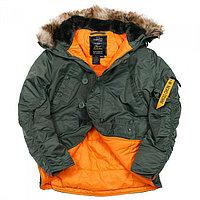 Куртка Аляска N3B HUSKY II SAGE GREEN ORANGE