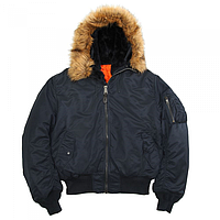 Куртка Hooded MA-1 REPLICA BLUE Flight Jacket