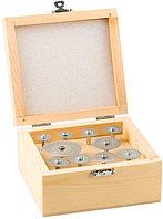Набор ЗУБР Мини-круги с алмазным напылением на шпильке в пластик. боксе, d 16-40, P200, хвост. d 3мм, 10 пред.