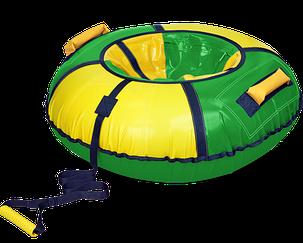 Тюбинг «Классик» зеленый с желтым, диаметр 900  мм, фото 2