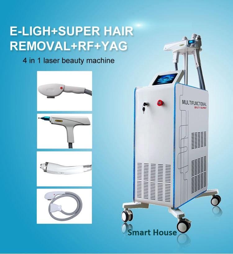 Аппарат 4 в 1 Elight + SuperHR + РФ + ND YAG лазер