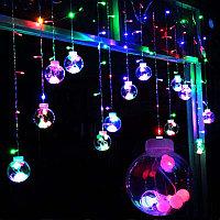Гирлянды Дождик Сферы с Диодами 3м*1м (RGB) №108-1