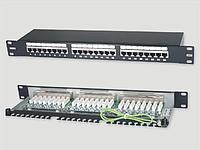 "Eurolan Коммутационная панель 1U 19"", 24хRJ45, 568A/B, FTP, кат.5е, черная"