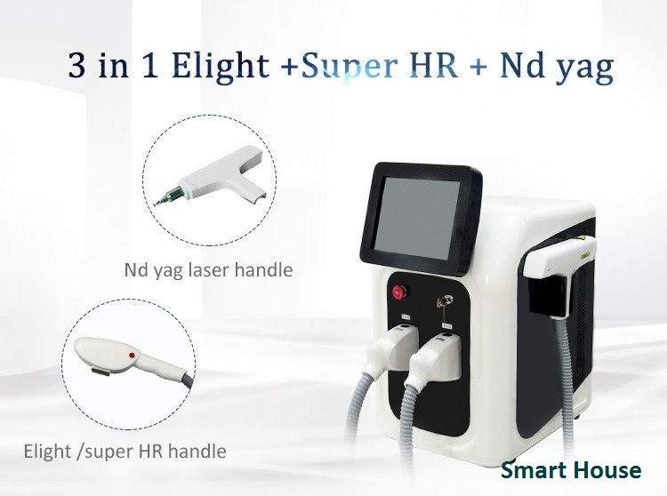 Аппарат 3 в 1 IPL + Elight + Супер удаление волос