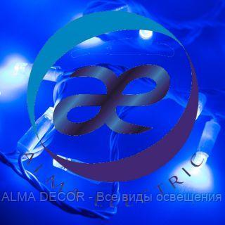 Светодиодная гирлянда ARD-STRING-CLASSIC-10000-WHITE-100LED-FLASH BLUE (230V, 7W)