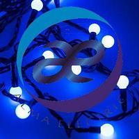 Светодиодная гирлянда ARD-BALL-CLASSIC-D13-10000-BLACK-100LED BLUE (230V, 7W)