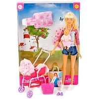 Defa Lucy Кукла Люси (29см) с коляской, в наборе кукла-малыш, множество тематических аксессуаров, в асс.