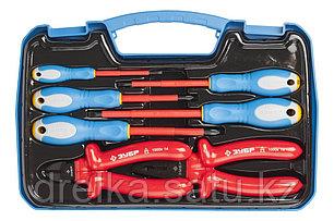 Набор: Губцевый инструмент, диэлектрический, высоковольтный до ~1000В, маслобензостойкая рукоятка, 7 предметов, фото 2