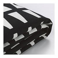ЛИКСЕЛЕ Чехол кресла-кровати, Эббарп черный/белый, фото 1