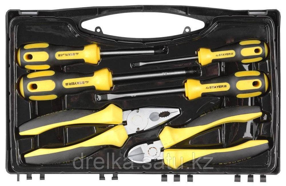 """Набор слесарно-монтажного инструмента STAYER """"PROFI"""" ULTRA: 4 отвертки, плоскогубцы и бокорезы, 6 предметов"""