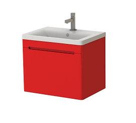 Подвесная тумба с раковиной Ювента Tivoli 65, красная