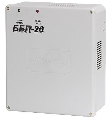 Блок питания ЭЛИС ББП-20, 12V, 2A, под АКБ, пластик
