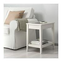 ЛИАТОРП Придиванный столик, белый, стекло, фото 1