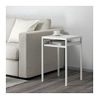 НИБОДА Столик с двусторонней столешницей, белый/серый