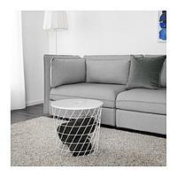 КВИСТБРУ Столик с отделениями д/хранения, белый, фото 1