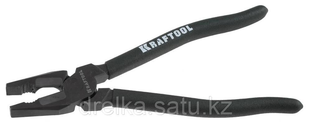 """Плоскогубцы KRAFTOOL """"KarbMax"""" комбинированные, с твердосплавными вставками, покрытие оксидированное"""