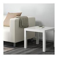 ЛАКК Придиванный столик, глянцевый белый