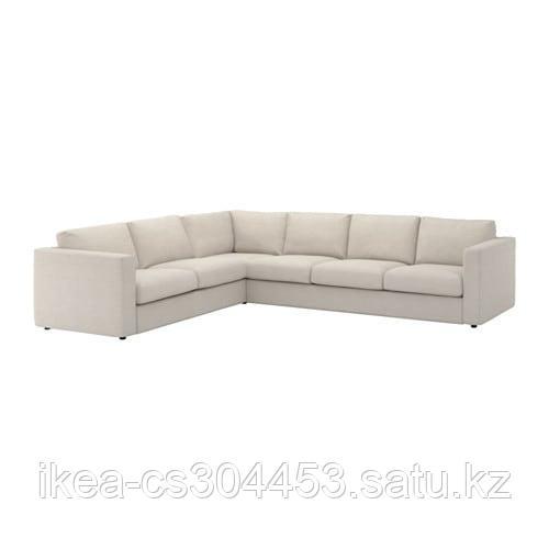 ВИМЛЕ 5-местный угловой диван, Гуннаред бежевый - фото 1