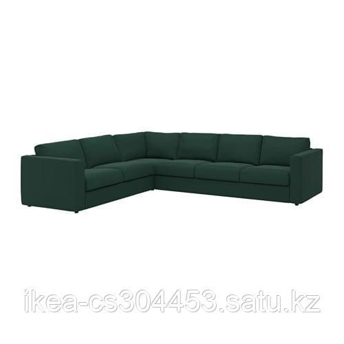 ВИМЛЕ 5-местный угловой диван, Гуннаред темно-зеленый - фото 1