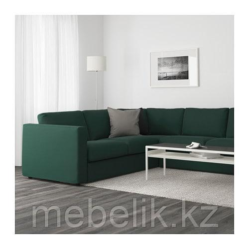 ВИМЛЕ 5-местный угловой диван, Гуннаред темно-зеленый - фото 2