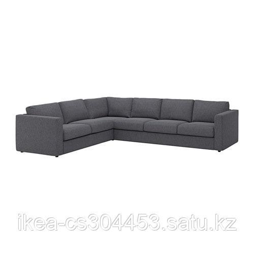 ВИМЛЕ 5-местный угловой диван, Гуннаред классический серый - фото 1