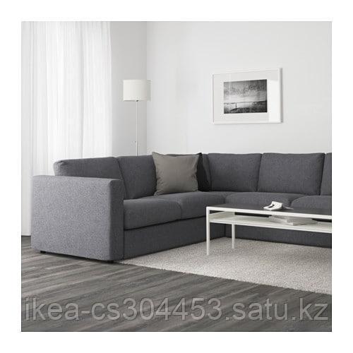 ВИМЛЕ 5-местный угловой диван, Гуннаред классический серый - фото 2
