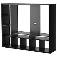 Шкаф для ТВ ЛАППЛАНД черно-коричневый ИКЕА, IKEA