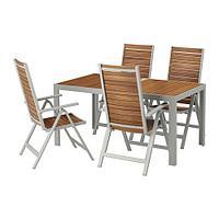 ШЭЛЛАНД Стол+4 кресла, д/сада, светло-коричневый, светло-серый, фото 1