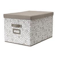 СТОРСТАББЕ Коробка с крышкой, бежевый, фото 1