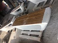 Скамья Exclusive из мраморного композитного камня с деревянным настилом