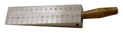 Клиновой промерник КОНДОР-КП определения величины просвета под рейкой (ГОСТ 30412-96)