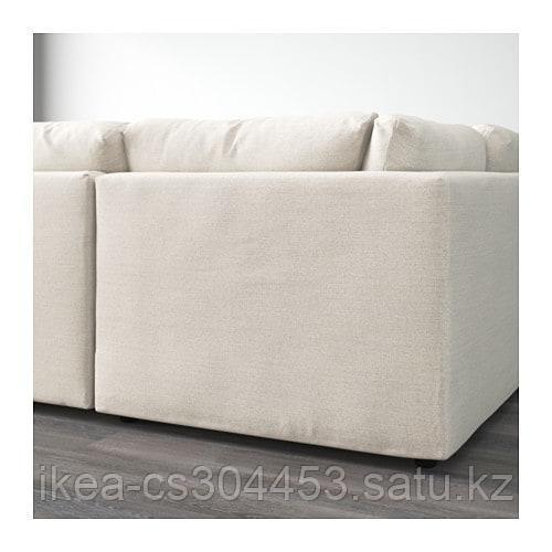 ВИМЛЕ 6-местный п-образный диван, с открытым торцом, Гуннаред бежевый - фото 3