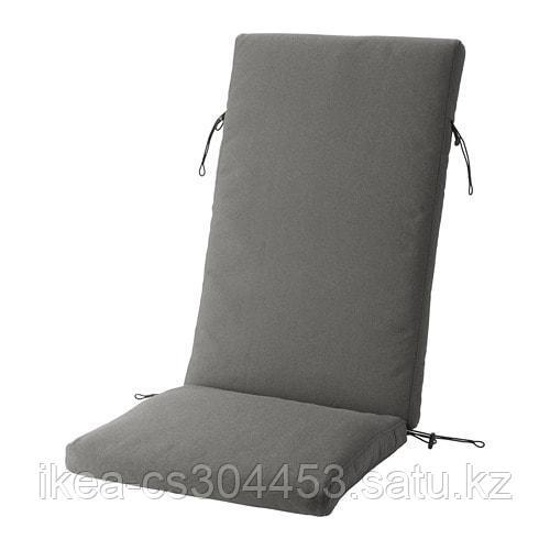 ФРЁСЁН/ДУВХОЛЬМЕН Подушка на садовую мебель, темно-серый - фото 1