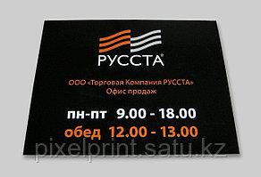 Табличка на ПВХ 20х30 см