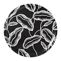 АВСИКТЛИГ Поднос, черный, белый лист