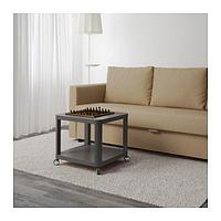 ТИНГБИ Стол приставной на колесиках, серый, фото 1