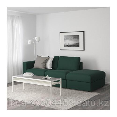 ВИМЛЕ 3-местный диван, с открытым торцом, Гуннаред темно-зеленый - фото 2