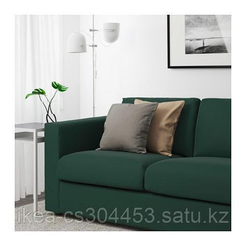 ВИМЛЕ 3-местный диван, с открытым торцом, Гуннаред темно-зеленый - фото 3