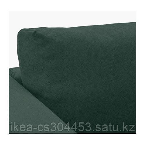ВИМЛЕ 3-местный диван, с открытым торцом, Гуннаред темно-зеленый - фото 4