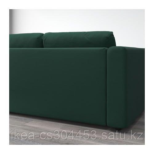 ВИМЛЕ 3-местный диван, с открытым торцом, Гуннаред темно-зеленый - фото 5