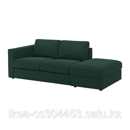 ВИМЛЕ 3-местный диван, с открытым торцом, Гуннаред темно-зеленый - фото 8