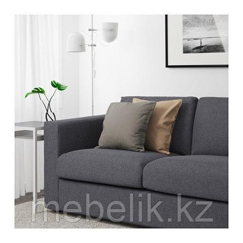 ВИМЛЕ 3-местный диван, с открытым торцом, Гуннаред классический серый - фото 3