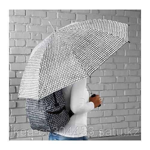 КНЭЛЛА Зонт, черный, белый - фото 2