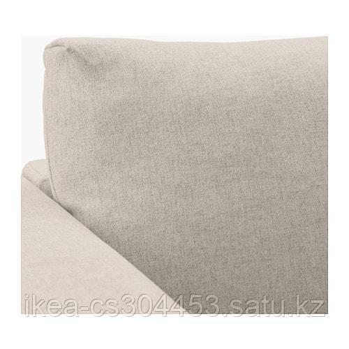 ВИМЛЕ 4-местный угловой диван, с открытым торцом, Гуннаред бежевый - фото 3