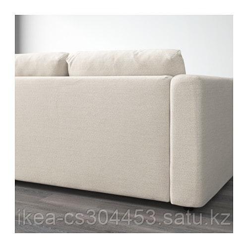 ВИМЛЕ 4-местный угловой диван, с открытым торцом, Гуннаред бежевый - фото 4