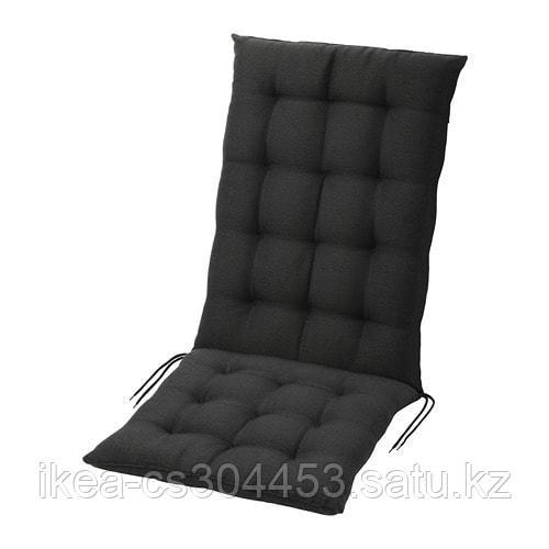 ХОЛЛО Подушка на садовую мебель, черный - фото 1