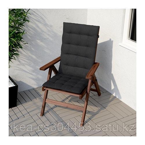 ХОЛЛО Подушка на садовую мебель, черный - фото 2