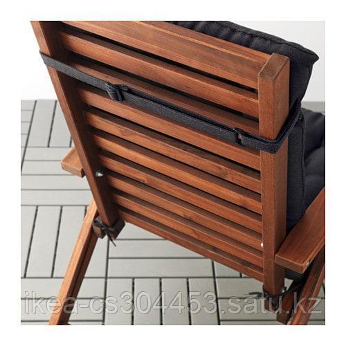 ХОЛЛО Подушка на садовую мебель, черный - фото 3